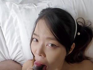 YoradaX, Asian Maid cosplay blowjob