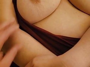 Shy suburban plumper cougar has her fat tits exposed