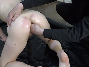Big pussy fisted with lubricant