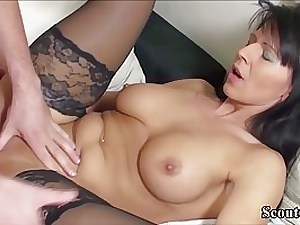 German girl in glamour, dark-hued tights got plumbed in a rear end- fashion position and got a inward cumshot