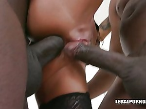 Valentina Sierra has hooked up with 2 ebony men because she luvs interracial DOUBLE PENETRATION a pile
