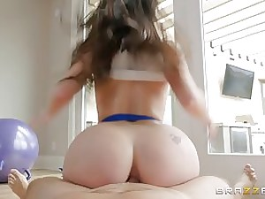 Spunky dark-haired, Lana Rhoades is shrieking while getting fucked, because it perceives nicer than ever